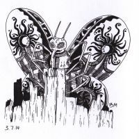 Day 3 - Chaotic Butterfly by BMIllustration