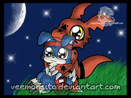 Guilmon and Gaomon by Veemonsito