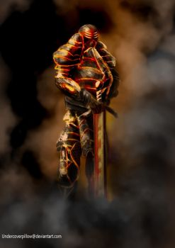 Lava Knight by Undercoverpillow