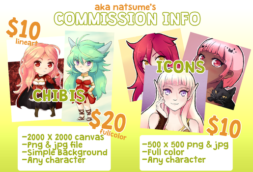 Commission Info by NatsumeAka
