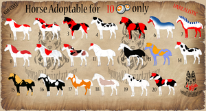 KOI Horse Adoptable For 10 Points Only - OPEN by Juzoka-Vargulf-Eqqus