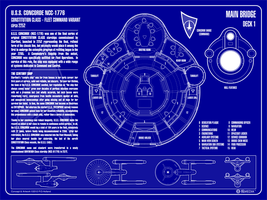USS Concorde NCC-1776 - Blueprint Edition by Phaeton99