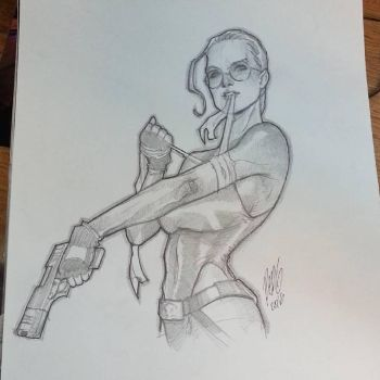 Lara Croft quick sketch by redgvicente