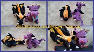 Webkinz Lava and Emperor Dragons! by Vesperwolfy87