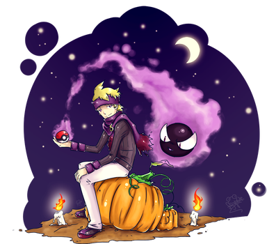 Halloween: Morty and Gastly by Frog-of-Rock
