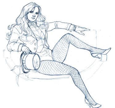 Zatanna commission sketch by MarcLaming