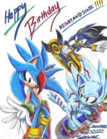 Art Trade: Happy Birthday NIGHTSANDSONIC!!! by SupaSilver