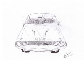 Dodge Challenger Sketch by SkyDiggityDive-art