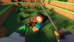 Wallpaper Minecraft 3D : The Steve's Kill by TheFennixCreations