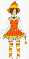 Candy Corn Costume Design by xkiddo