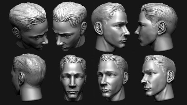 First ZBrush crappy head quick sculpt by ButtZilla