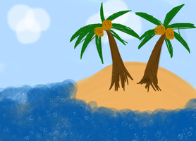 Coconut trees by DJSonicwave