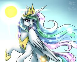 (Collab) Celestia the princess of sun~ by JylaRitaOwO