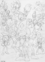 Chaos War Finale- Poster [Sketch] by JohnTheBaratrian