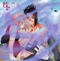 Mangekyou on - SasuSaku by Regi-chan
