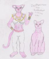 Peppermint the bubblegum cat by WhippetWild