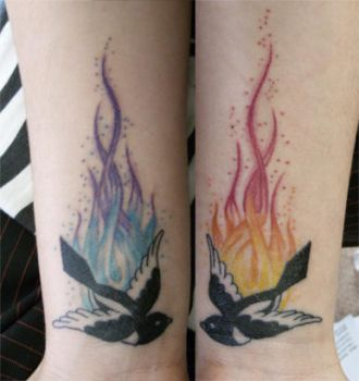 Magpie Wrist Tattoo by ivy-cinder