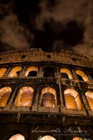 Colosseum Night 2 by BlackCarrionRose