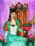 Queen of Cups by SavvyRed