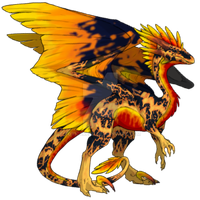 Flight Rising Skin: Molten Flame F Wildclaw by ToxicCreed