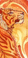 Tiger bookmark by wolf-minori