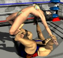 mixed wrestling Romero by cattle6