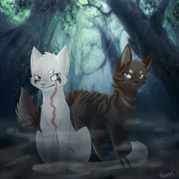 Snowtuft X Hawkfrost by StoneWarrior-101