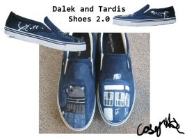 Dalek and Tardis Shoes 2.0 by caseyhoke