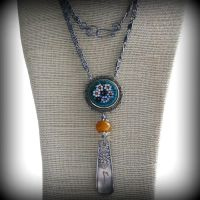 Emma Assemblage Spoon Necklace by JudithBDesigns