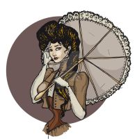 New Gibson Girl by LaTaupinette