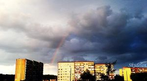 Rainbow over the blocks. by Skydelan