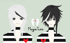 One Is Less Than Two - Magpie Twins by Cybastien