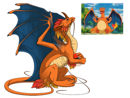 [Flight Riaing] F Pearlcatcher [Charizard Skin] by Shadow-Blood-Dragon