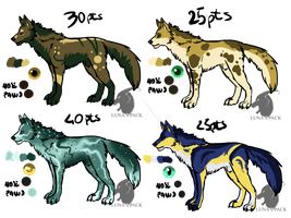 Wolves adoptables 23 _CLOSED_ by thelunapower