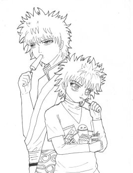 SSSS5: Gintoki and Killua (WIP) by gurachan