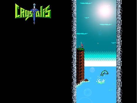 Crystalis Dolphin Wallpaper by Caiterz