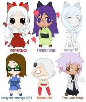 Chibi nine tails and friends by mandygugs