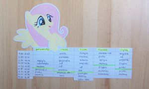 Ponyfied timetable by unkindangel