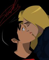 Anonnim request: SuperboyxBlack Canary Kiss by TheDarkRaven17