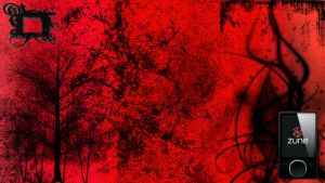 Bloody Abstract Zune by dur-ham