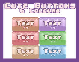 [Pixel] Cute Buttons by DazzlingEnd