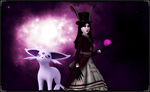 Alice and Espeon by jagged66