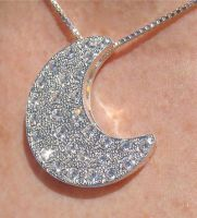 Pave Crescent Moon by camias
