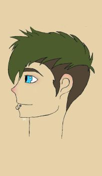 the boy with the green hair. by OneAfterAnother