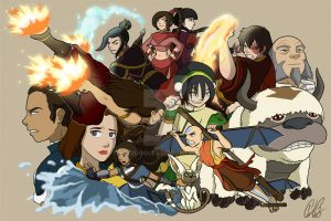 Avatar - Cast Collage by mrgoggles