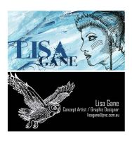 business cards by Lisa-Gane