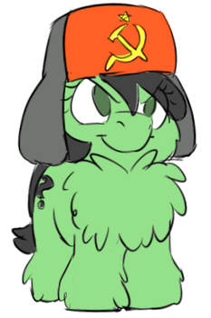 Commie Anonfilly And Her Chestfluff by LOCKHE4RT