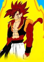 Fusion dance - SSJ4 Spromack by Kaiju-Borru-Zetto