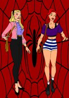 SpiderMan Year One- Gwen Stacy And MJ Watson by Comicbookguy54321