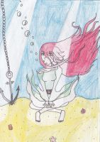 The girl at the bottom of the ocean by dei-saso-me
